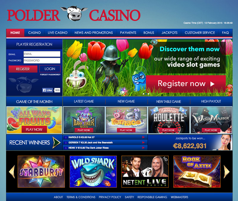 Polder casino screenshot